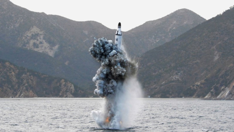 N. Korea fires ballistic missile from submarine