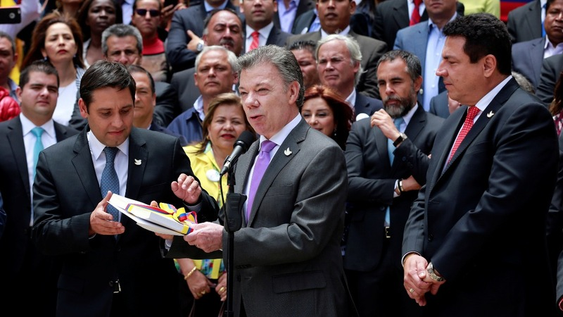 Colombia sends historic peace agreement to Congress