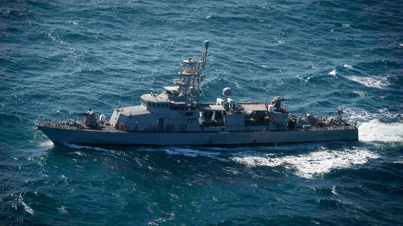 U.S. Navy fires off a warning at Iranian boat