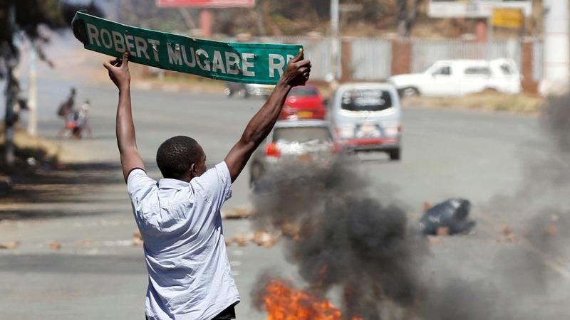 Violence erupts in Zimbabwe after anti-Mugabe rally