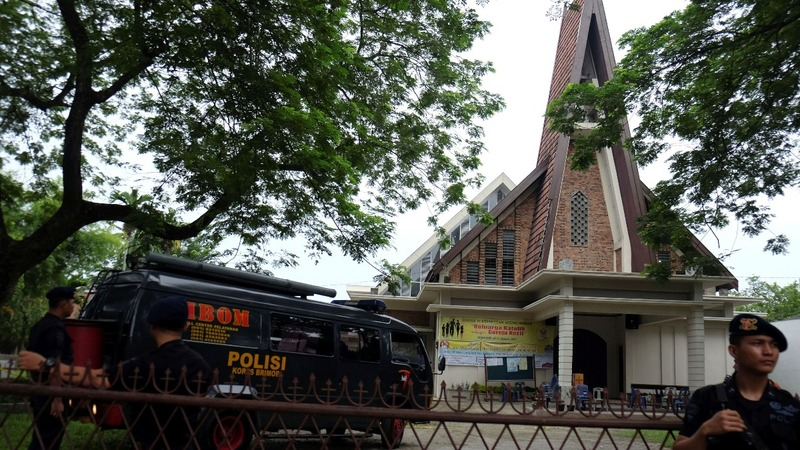 Man arrested after Indonesia church attack