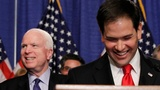 Rubio and McCain face voters in tough primaries