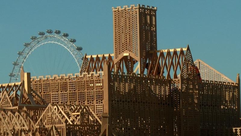 London's burning again, in miniature