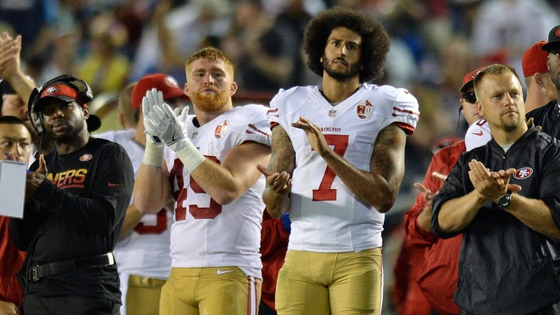 Kaepernick kneels during anthem, continues protest
