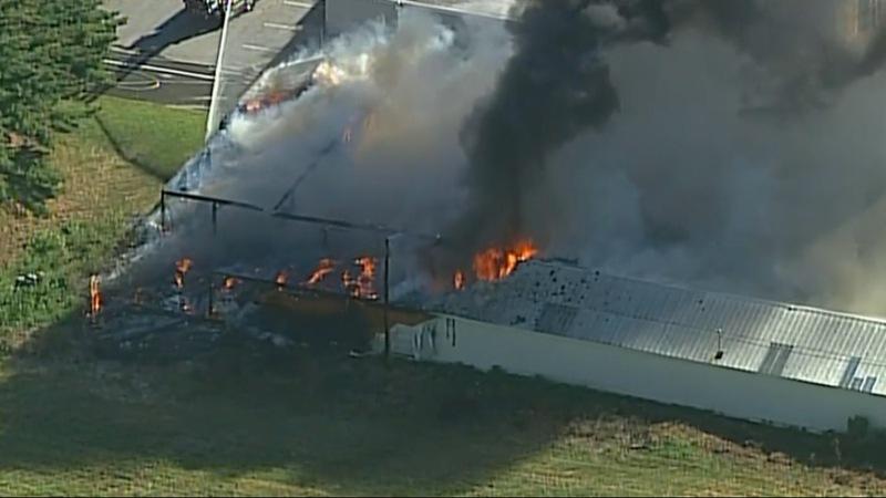 Massive blaze at USDA facility follows threats