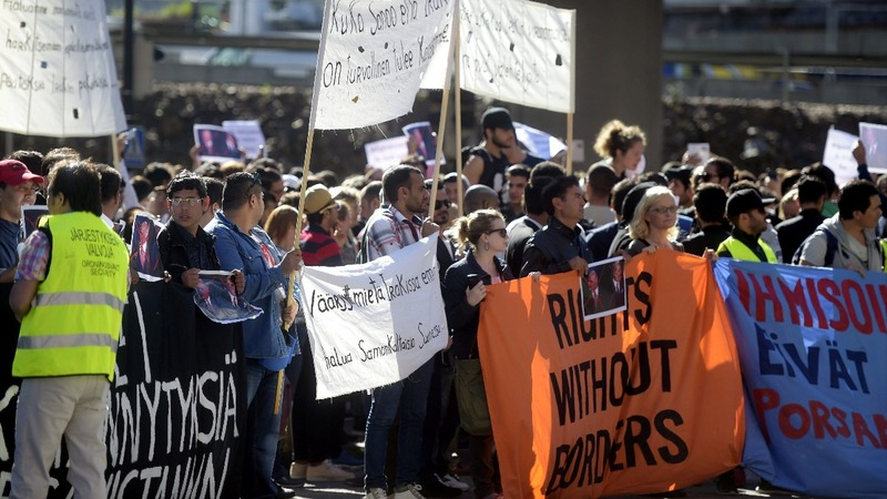Protests over tighter immigration laws in Finland