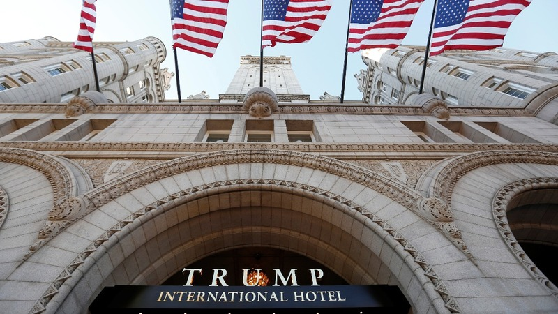 Trump opens glitzy hotel blocks from the White House
