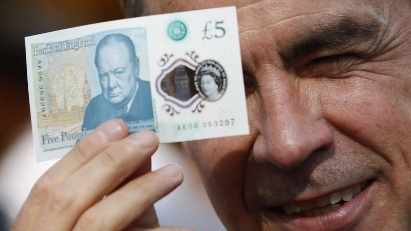 INSIGHT: BOE's Carney tests new plastic £5 note
