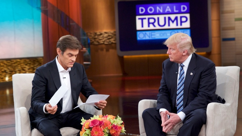 In reversal, Trump gives Dr. Oz health summary
