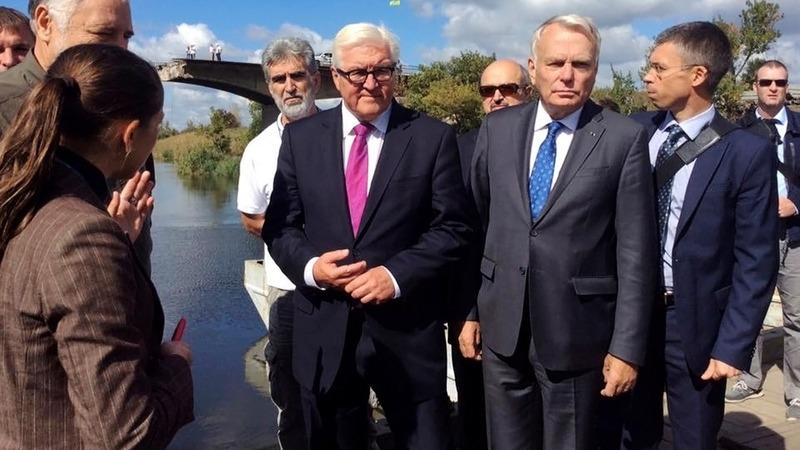 EU foreign ministers visit Ukraine front line