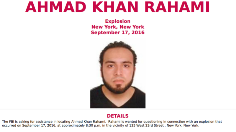 Suspect wanted in NY, NJ bombings