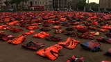"London's ""lifejacket graveyard"" message to UN summit"