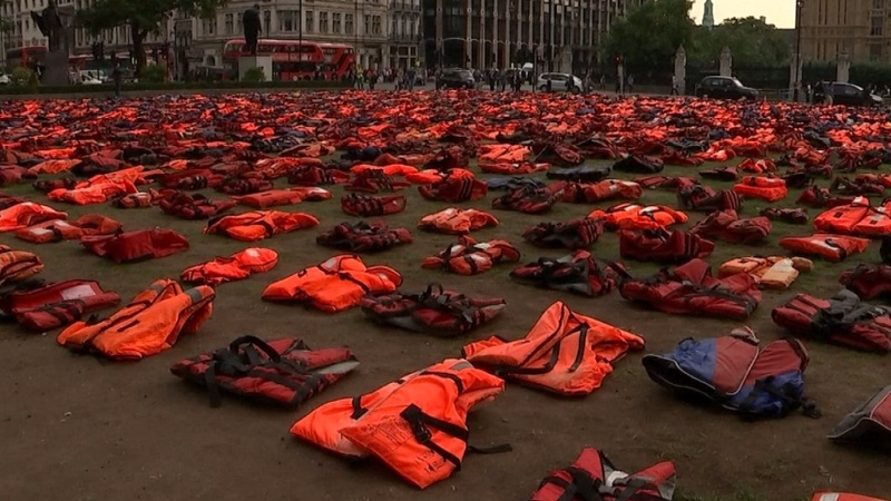 "London's ""lifejacket graveyard"" message to UN summit"