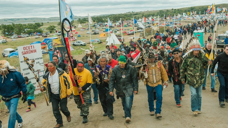 Native Americans protesters prep for winter