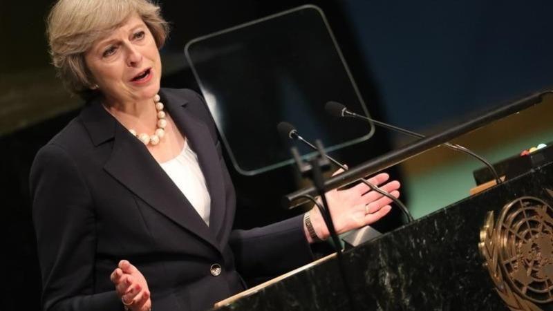 VERBATIM: May says UK won't turn back on world
