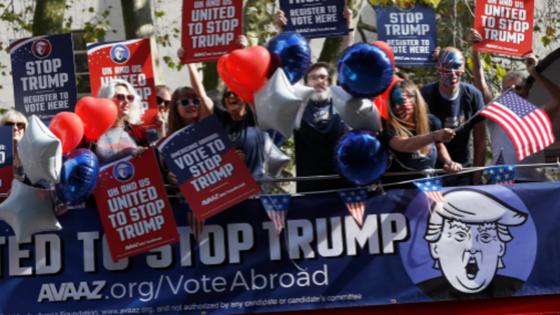 'Trump Bus' brings U.S. election to London