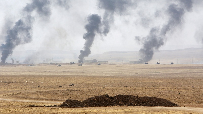 U.S. tests for mustard agent near Iraq base