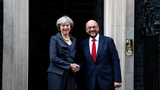 Schulz in Downing Street for Brexit talks
