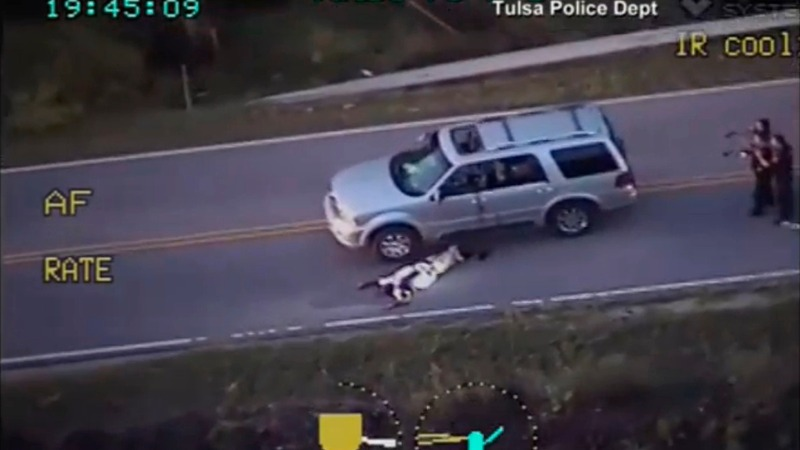 White Tulsa cop charged with killing unarmed motorist