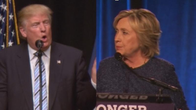 Trump, Clinton prep for 'two-trains-colliding' debate