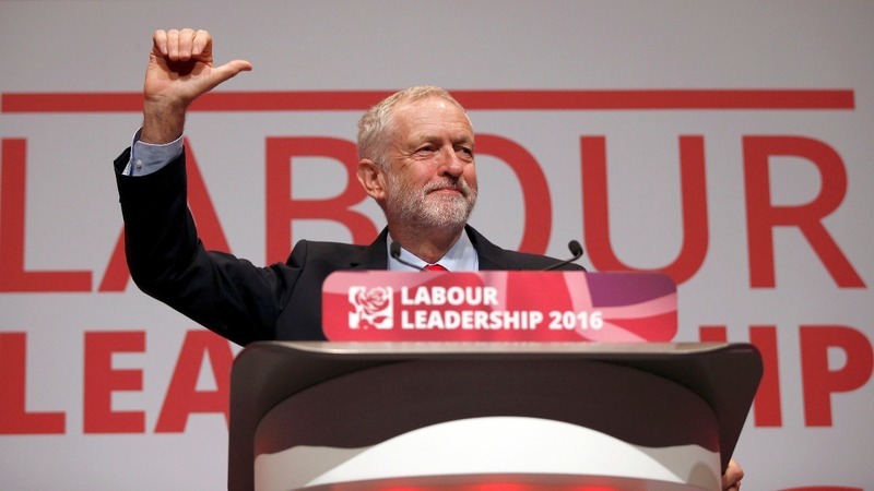 Corbyn re-elected Labour leader in decisive win