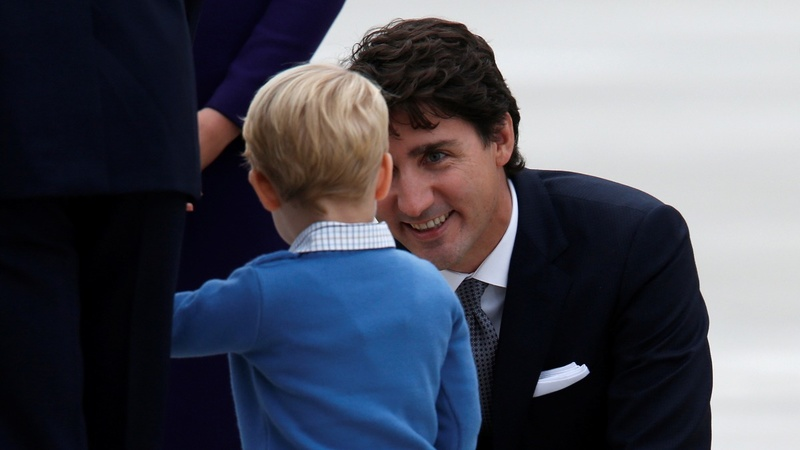 Prince George snubs Canada's PM Trudeau