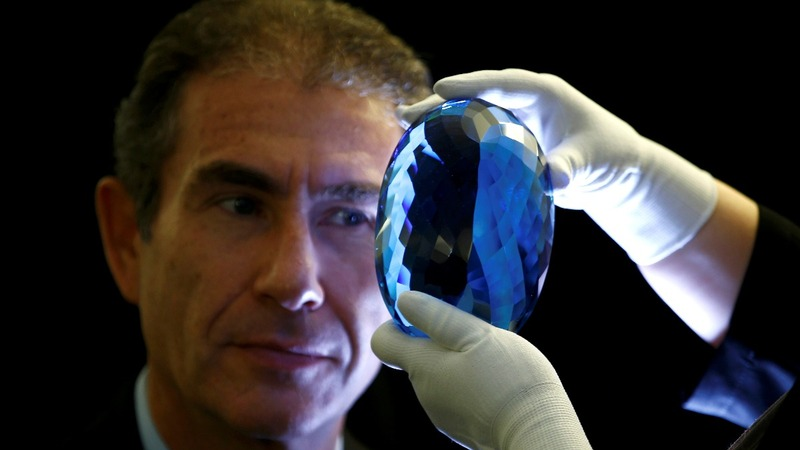 World's biggest blue topaz to go on display