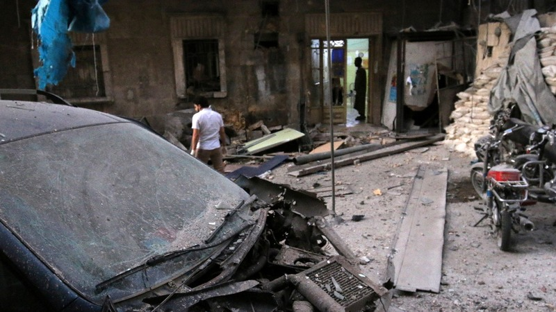 Jets strike two hospitals in besieged Aleppo area