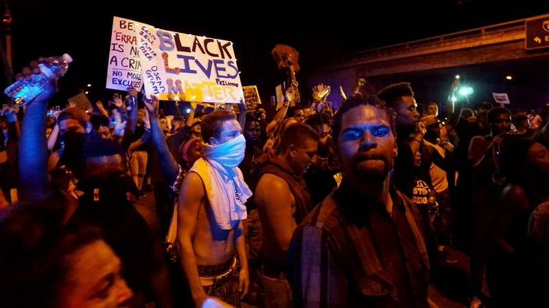 Cries of 'murder' as California protests shooting