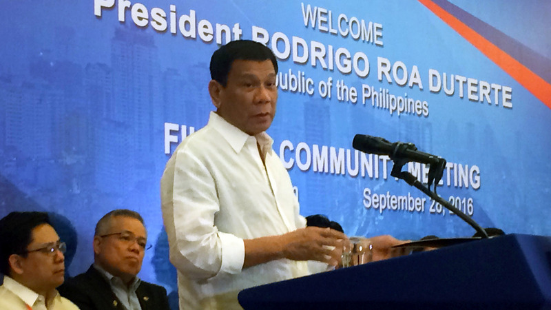 Duterte vows to end joint U.S. military drills