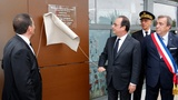 Hollande re-opens site of Charlie Hebdo siege