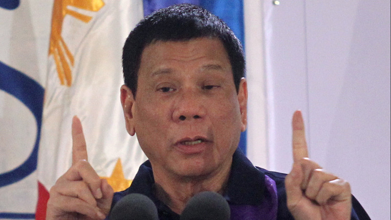 Duterte says U.S. rivals have his back