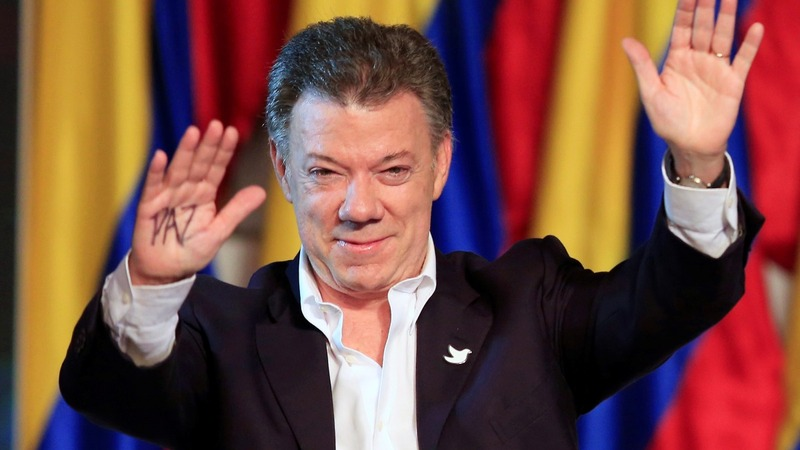 Colombian leader is surprise Nobel Peace winner
