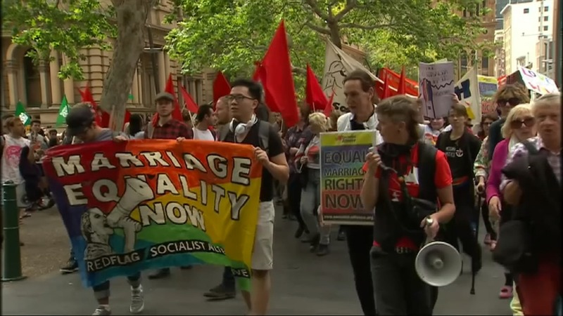 Australian rally again public vote for gay marriage