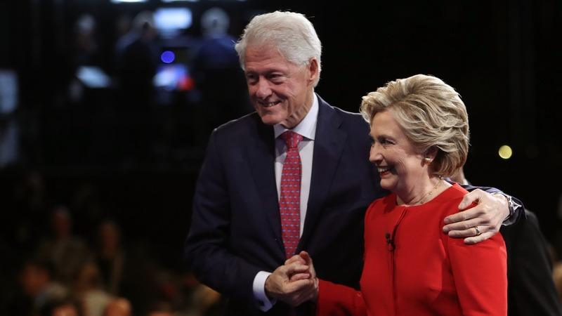 VERBATIM: Heckler calls Bill Clinton a rapist