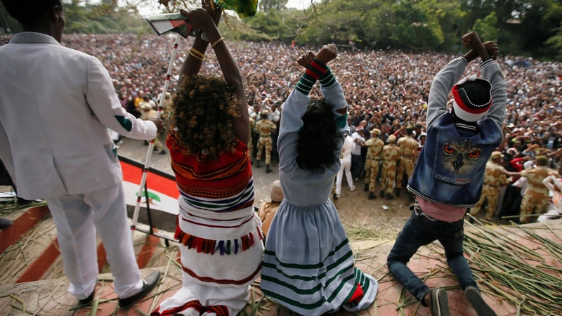 Ethiopia must allow protests, Merkel says