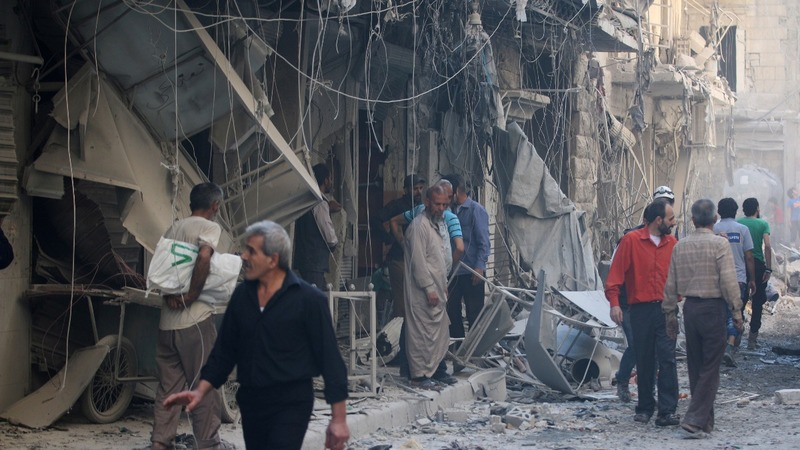 Bombers return to Aleppo's skies after lull
