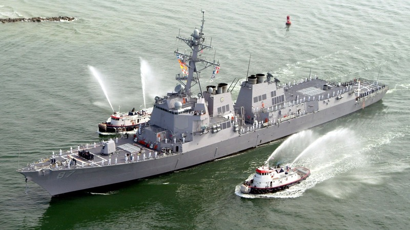 U.S. warship targeted for third time off Yemen