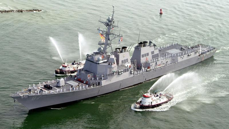 U.S. warship targeted for third time off Yemen