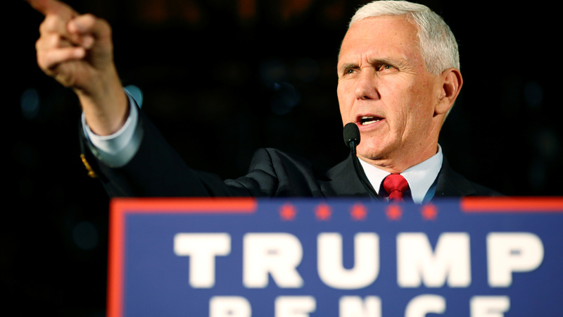 Pence breaks with Trump again