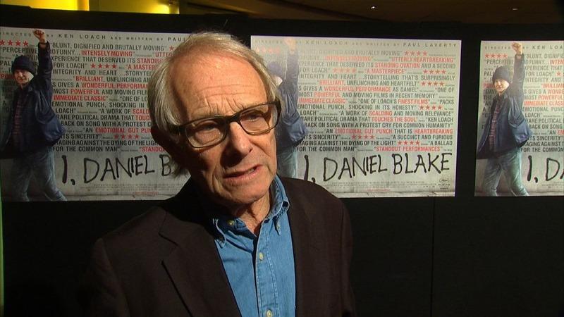 Director Loach attacks UK PM at premiere