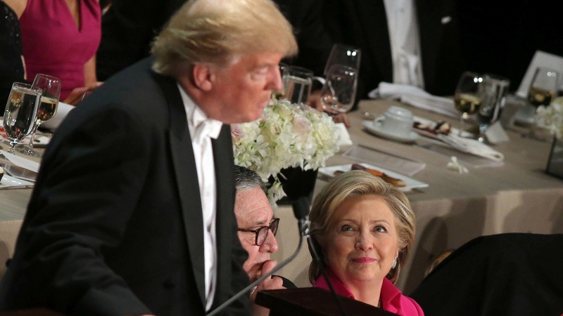 VERBATIM: Trump jeered, Clinton cheered at charity dinner