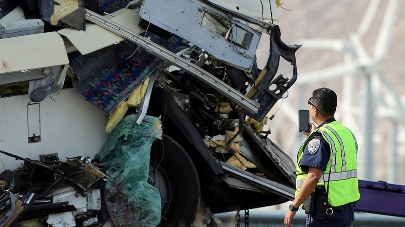 At least 13 killed in California tour bus crash