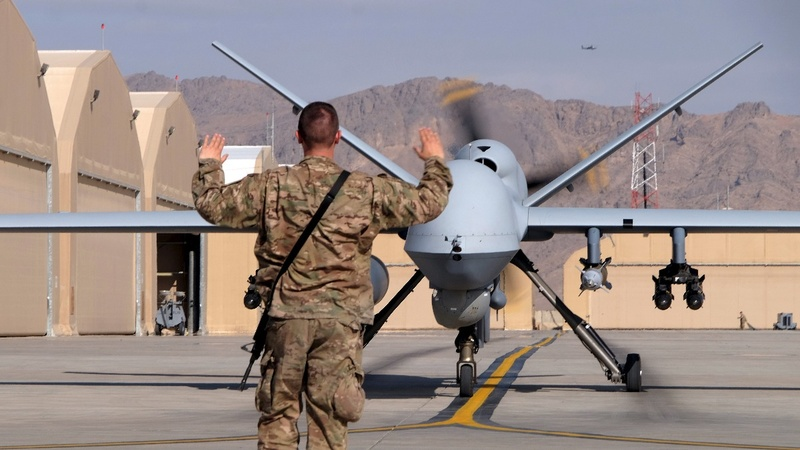 U.S. air strikes spike in Afghanistan