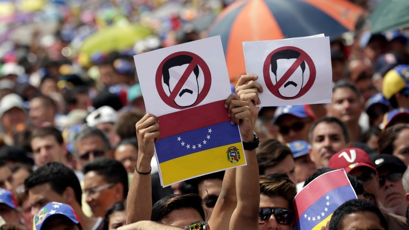 Massive anti-Maduro protests as Venezuela teeters