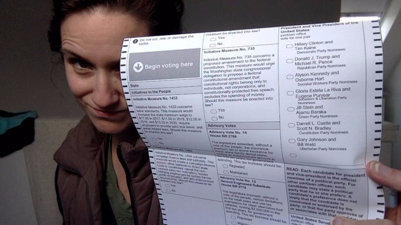 Voters challenge 'selfie' ban at the polls
