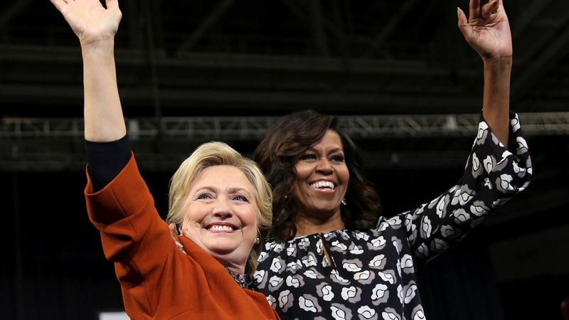 Clinton deploys Dem all-stars in final days