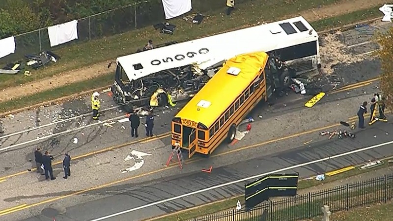 Horrific bus crash kills at least six in Baltimore