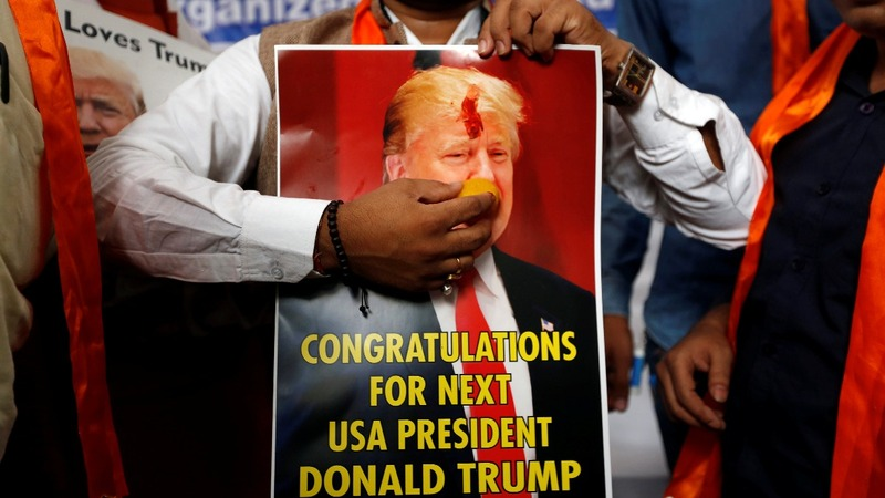India Trump fans celebrate election 'victory' early