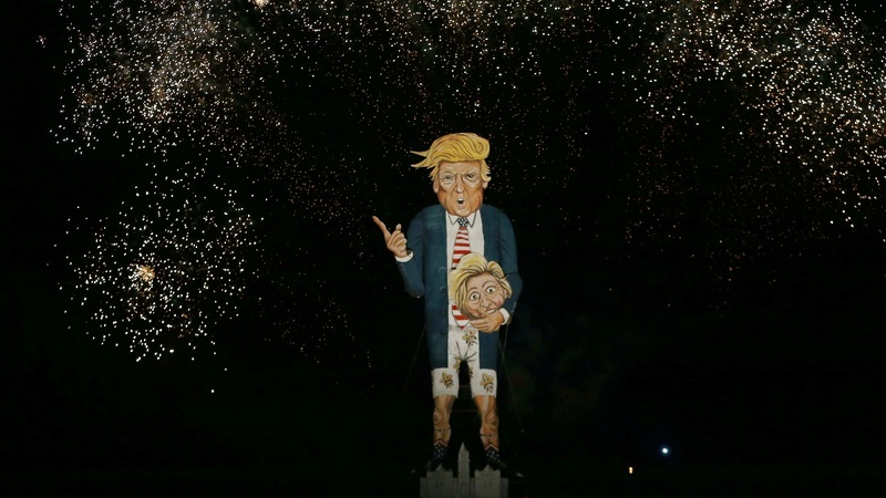 INSIGHT: Trump effigy burns on UK bonfire night